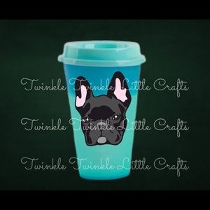 Custom French Bulldog Hot Color Changing Cup